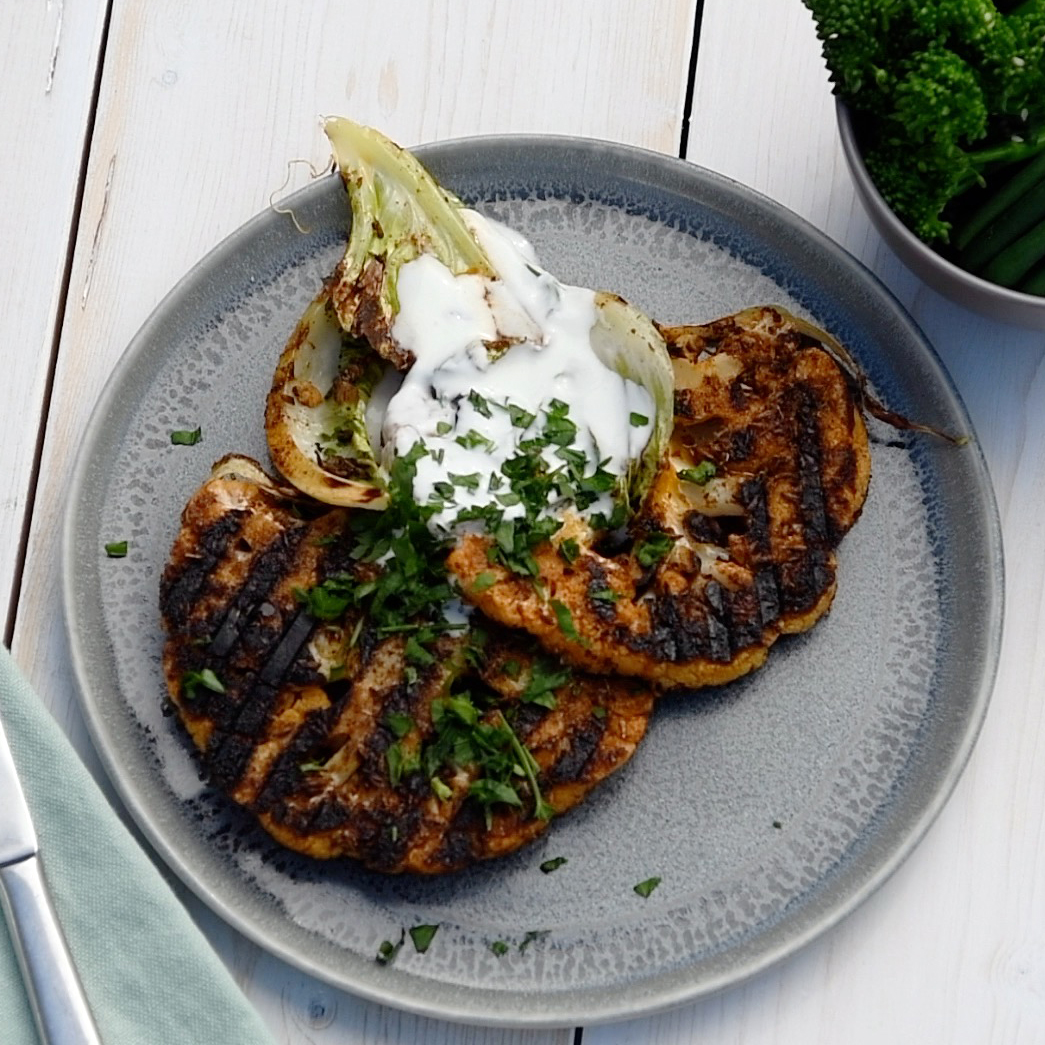 Cajun Spiced Cauliflower Steaks