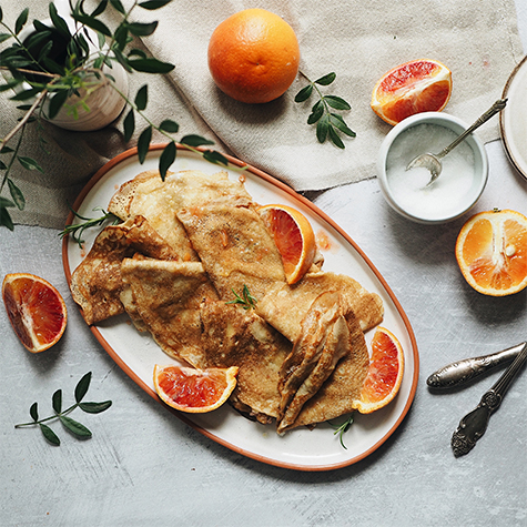 Blood Orange Pancakes