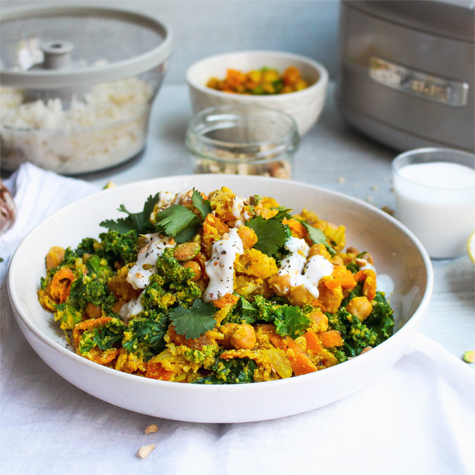 Moroccan Spiced Cauliflower Rice