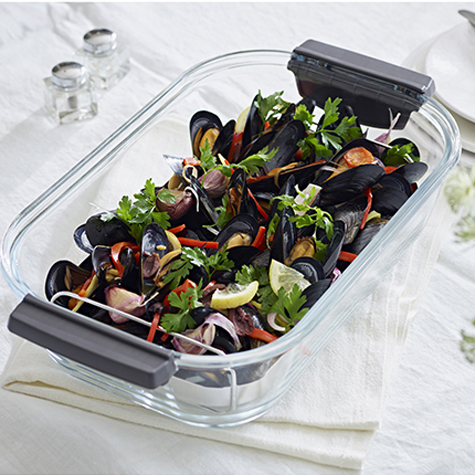 Mediterranean Mussels with Black Olives