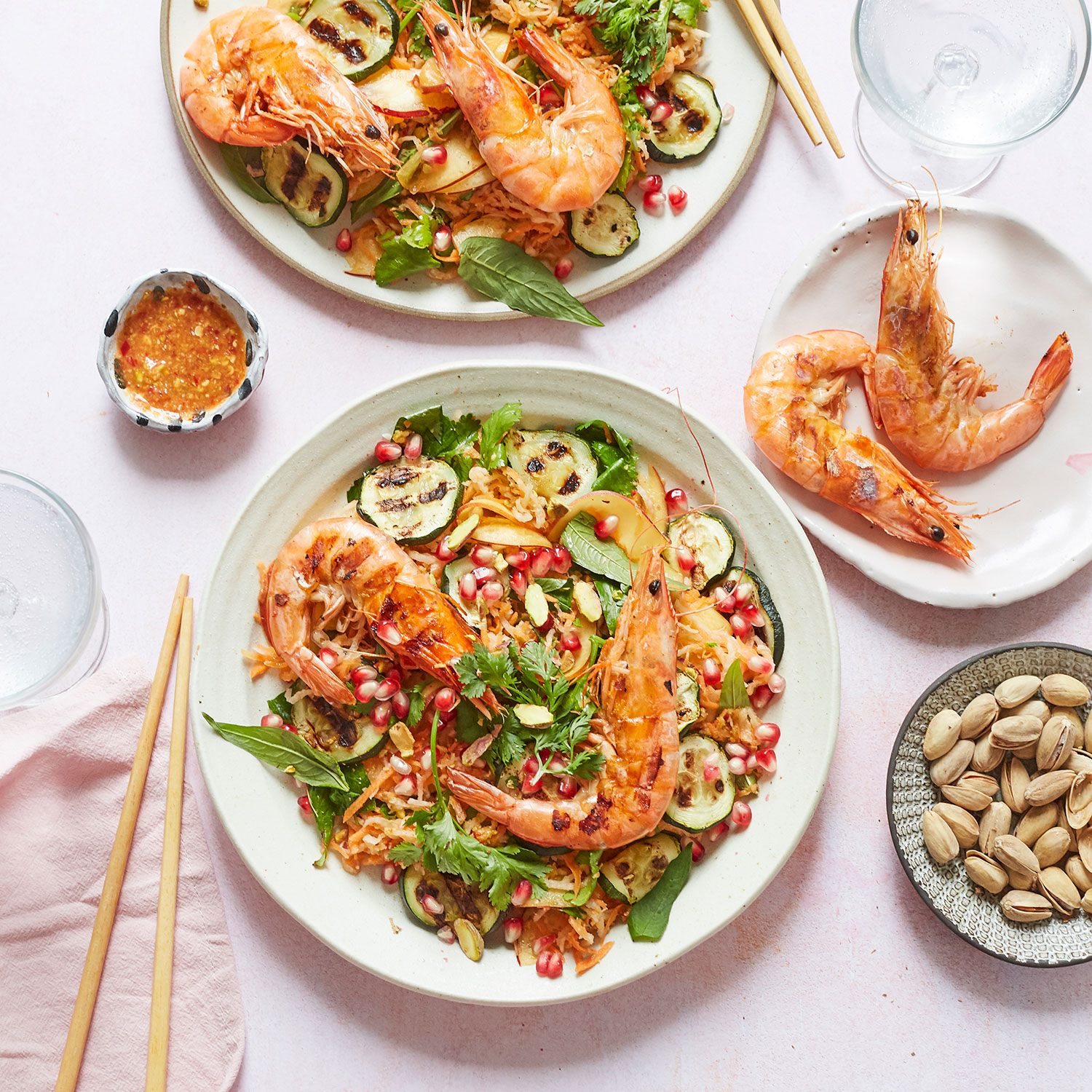 Papaya Salad with King Prawns
