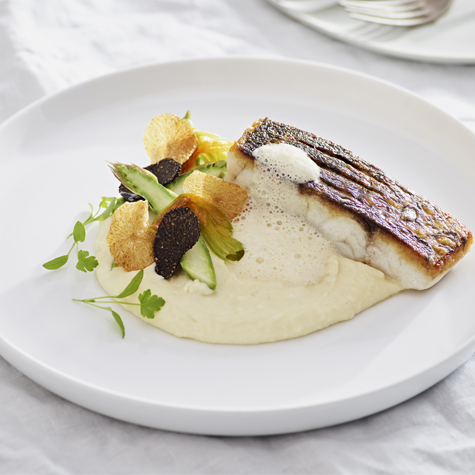Roasted White Fish with Potato Mousseline