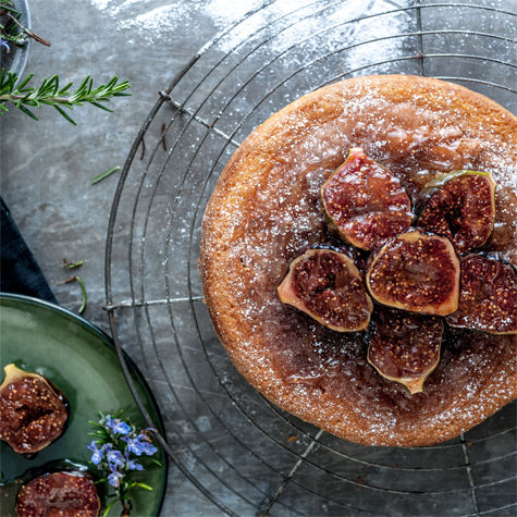 Almond & Rosemary Cake with Honeyed Figs