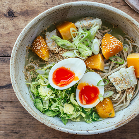 Hake, Brussels Sprout & Squash Ramen