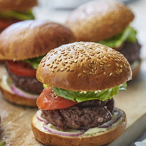 Beef Burgers with Garlic Mayonnaise